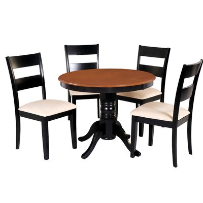 Dahlberg 5 Piece Dining Set Chair Color: Cream