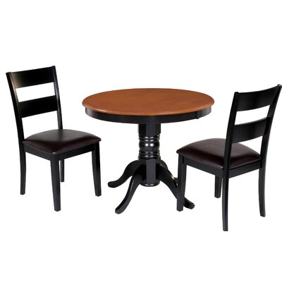 Dahlberg 3 Piece Dining Set Chair Color: Brown