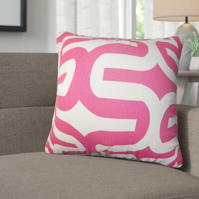 Angeline Geometric Square Cotton Throw Pillow Color: Candy Pink