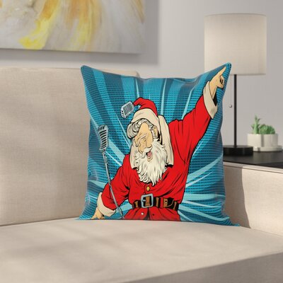 Pop Art Santa Square Pillow Cover Size: 16 x 16