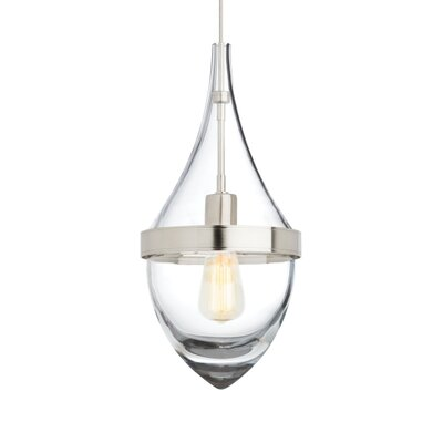 Cumbie 1-Light Mini Pendant Finish: Satin Nickel, Color Temperature: 2700