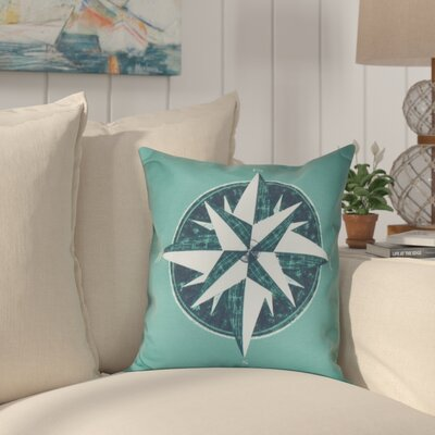 Hancock Compass Geometric Print Throw Pillow Size: 26 H x 26 W, Color: Green
