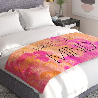 Ebi Emporium Free Your Mind Bed Runner Color: Pink/Orange