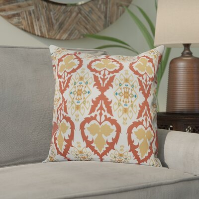 Oliver Bombay Geometric Outdoor Throw Pillow Size: 18 H x 18 W, Color: Coral