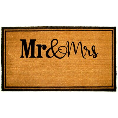 Gogol Mr and Mrs Doormat Mat Size: Rectangle 16 x 26