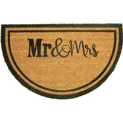 Gogol Mr and Mrs Doormat Mat Size: Semi-Circle 110 x 3