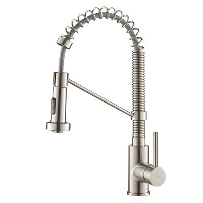 Bolden� Series Single Handle Pull Out Kitchen Faucet Finish: Stainless Steel