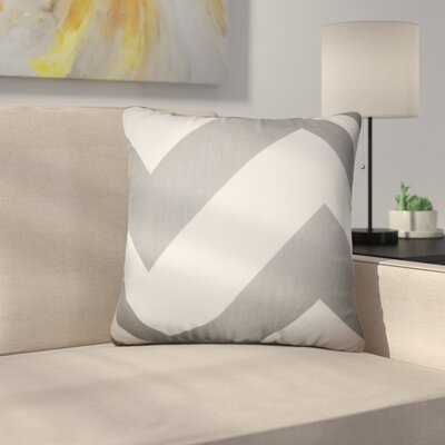 Sullivan Zigzag Cotton Throw Pillow Color: Gray