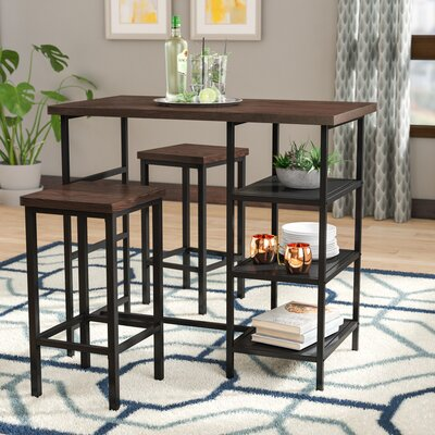 Du Bois 3 Piece Pub Table Set