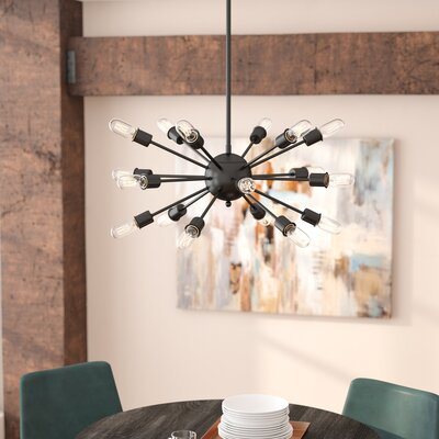 Defreitas 18-Light Sputnik Chandelier Finish: Black