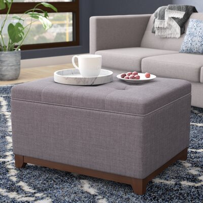 Nunnally Storage Ottoman Upholstery: Charcoal Gray