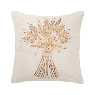 Dutil Sheath Ribbon Art 100% Cotton Throw Pillow