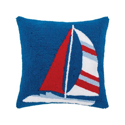 Crossett Sailboat Hooked Throw Pillow