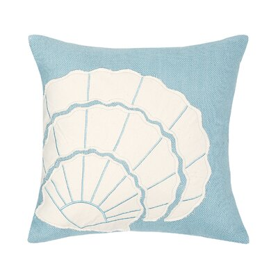 Crossland Shell Applique Throw Pillow