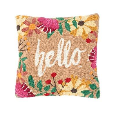 Metts Hello Hooked Throw Pillow