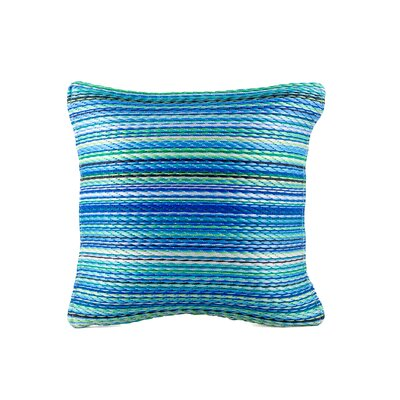 Sedlak Outdoor Throw Pillow Size: 20 x 20, Color: Turquoise/Moss Green