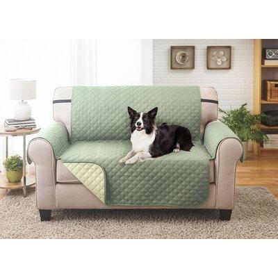 Reversible Loveseat Slipcover Upholstery: Olive/Sage
