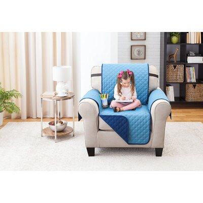 Reversible Armchair Slipcover Upholstery: Blue/Light Blue