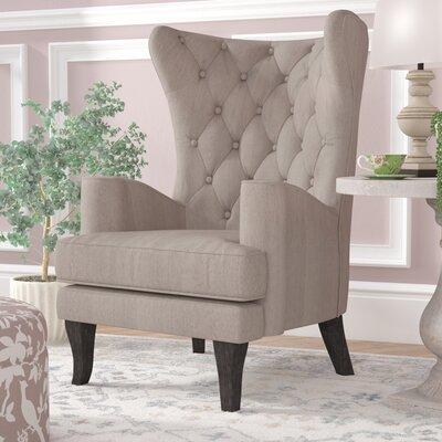 Patridge Wingback Chair Upholstery: Cream