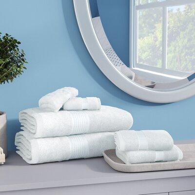 Stonington 100% Cotton 6 Piece Bath Towel Set Color: White