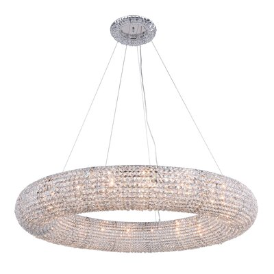 Ishee 20-Light Crystal Pendant