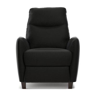 Metzler Manual Recliner Upholstery: Black