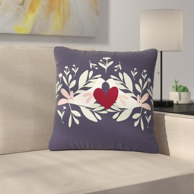 Mayacoa Studio Love Nest Animals Outdoor Throw Pillow Size: 18 H x 18 W x 5 D