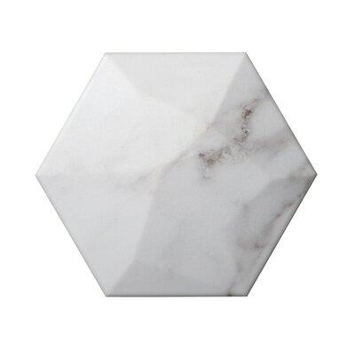 Code Hex High 6 x 7 Ceramic Field Tile in Calacata