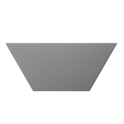 Code Trapezoid 4 x 9 Porcelain Field Tile in Gray
