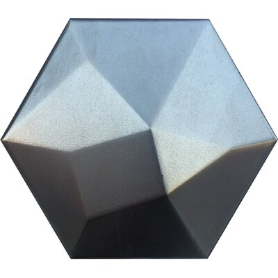 Code Hex High 6 x 7 Ceramic Field Tile in Metallic