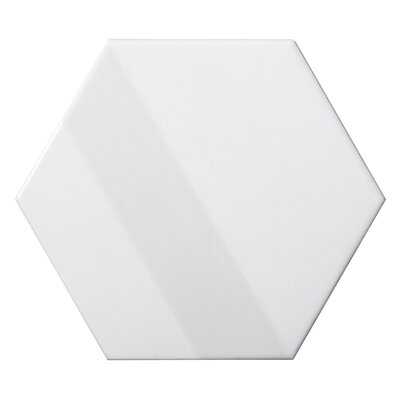 Code Hex 3D 6 x 7 Ceramic Field Tile in White