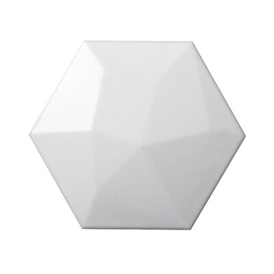 Code Hex High 6 x 7 Ceramic Field Tile in White