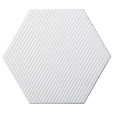 Code Hex Line 6 x 7 Ceramic Field Tile in White