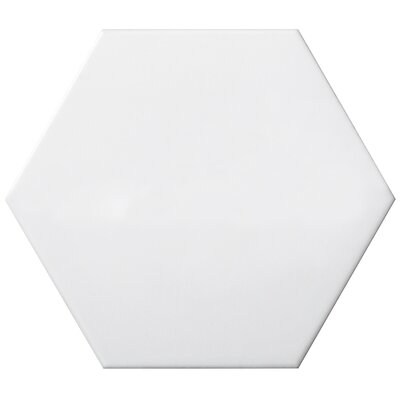 Code Hex Smooth 6 x 7 Ceramic Field Tile in White