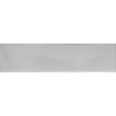Craft 3 x 12 Ceramic Subway Tile in Glossy Gray