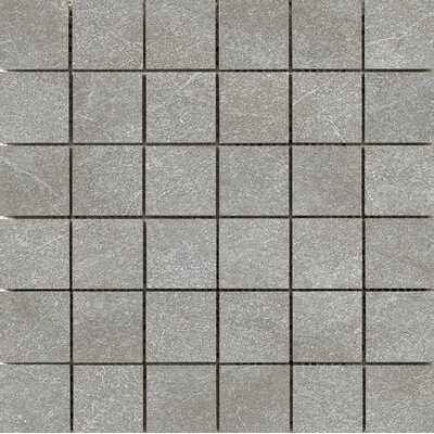 Anthem 2 x 2 Ceramic Mosaic Tile in Gray