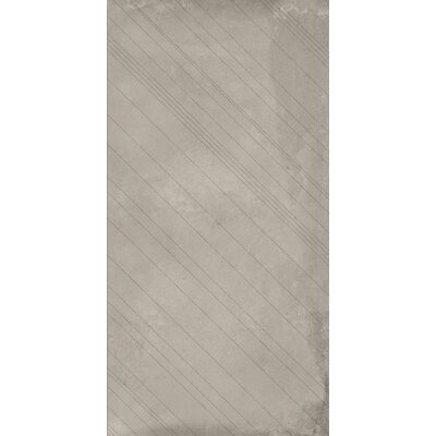 Borigni Diagonal-L 18 x 35 Porcelain Field Tile in Beige