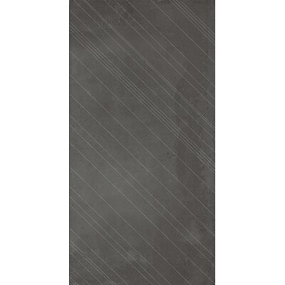 Borigni Diagonal-L 18 x 35 Porcelain Field Tile in Black