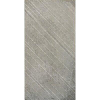 Borigni Diagonal-L 18 x 35 Porcelain Field Tile in Gray