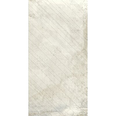 Borigni Diagonal-L 18 x 35 Porcelain Field Tile in White