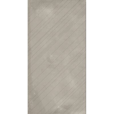 Borigni Diagonal-R 18 x 35 Porcelain Field Tile in Beige