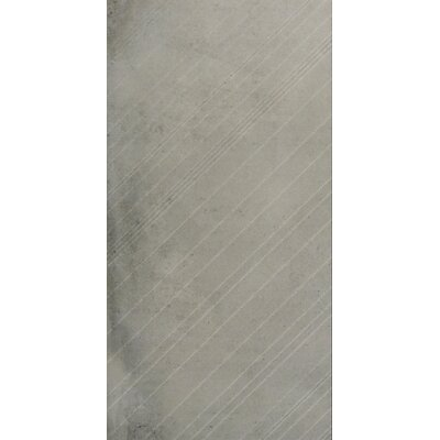 Borigni Diagonal-R 18 x 35 Porcelain Field Tile in Gray