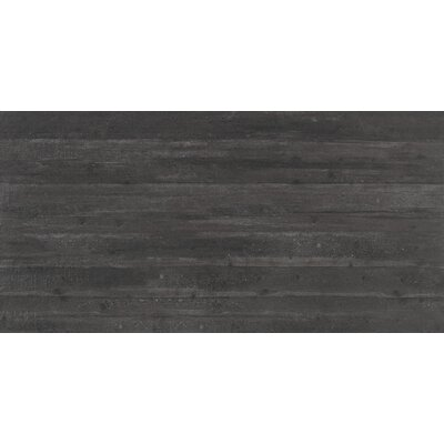 Cassero 24 x 47 Porcelain Field Tile in Black
