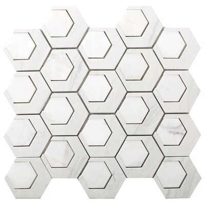 Catalyst 3 x 3 Stone Mosaic Tile in Hydrogen