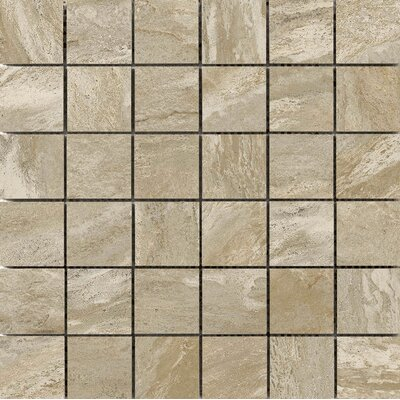 Milestone 2 x 2 Porcelain Mosaic Tile in Taupe