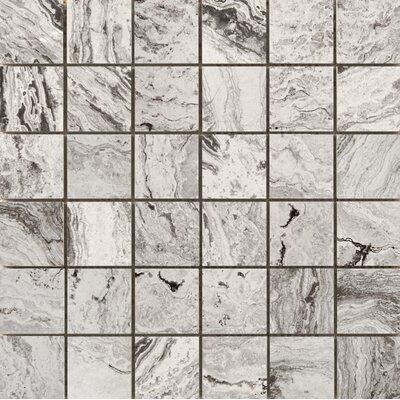 Pergamo 2 x 2 Porcelain Mosaic Tile in Bianco
