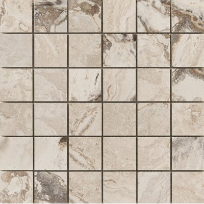Pergamo 2 x 2 Porcelain Mosaic Tile in Natural