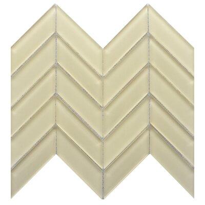 Edge 1 x 2 Glass Mosaic Tile in Cream