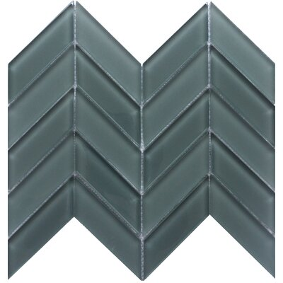 Edge 1 x 2 Glass Mosaic Tile in Gray