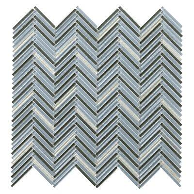 Pivot 1 x 1 Glass Mosaic Tile in Turn